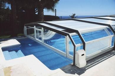 votre abri piscine sur mesure t l scopique bois portes. Black Bedroom Furniture Sets. Home Design Ideas