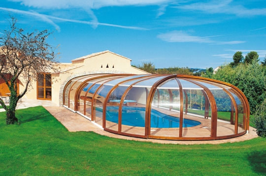 Piscine enterr e couverte for Piscine bois a enterrer